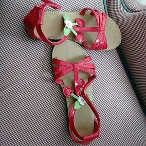 GYMBOREE Girl CHERRY Red Sandals size 13
